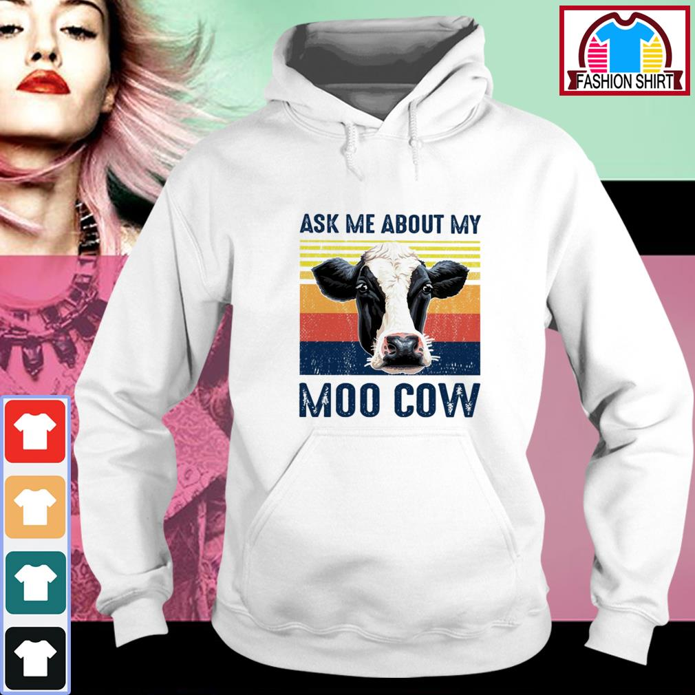 Official Ask me about my moo cow vintage shirt by tshirtat store Hoodie