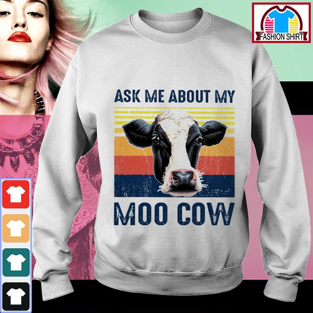 Official Ask me about my moo cow vintage shirt by tshirtat store Sweater