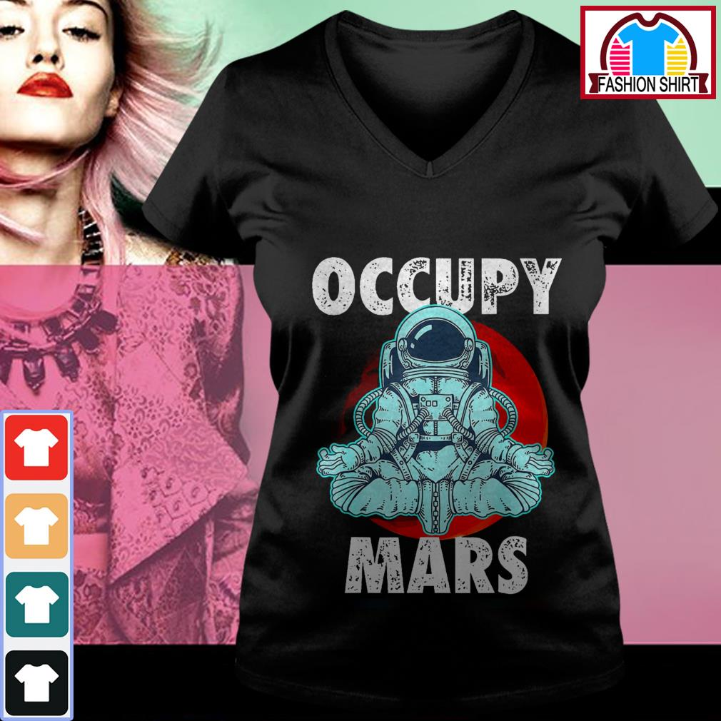 Official Astronaut Occupy Mars shirt by tshirtat store V-neck T-shirt