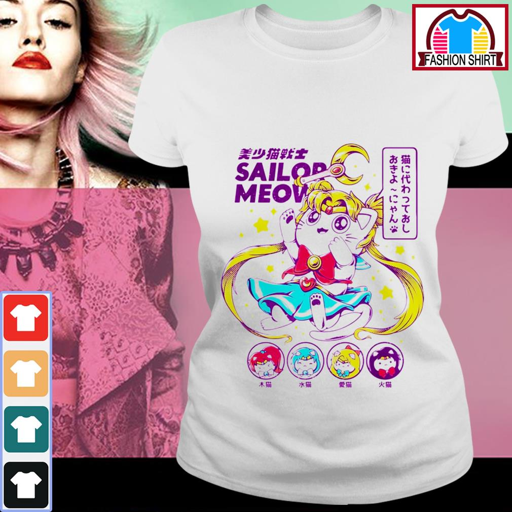 Official Cat moon Sailor meow shirt by tshirtat store Ladies Tee