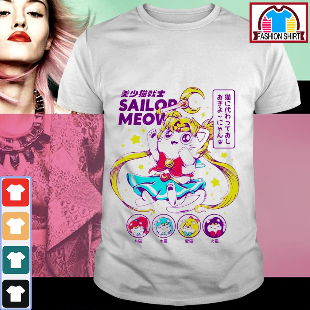Official Cat moon Sailor meow shirt by tshirtat store Shirt