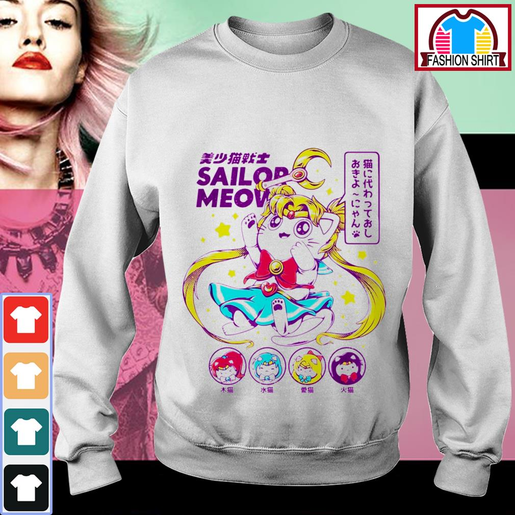 Official Cat moon Sailor meow shirt by tshirtat store Sweater