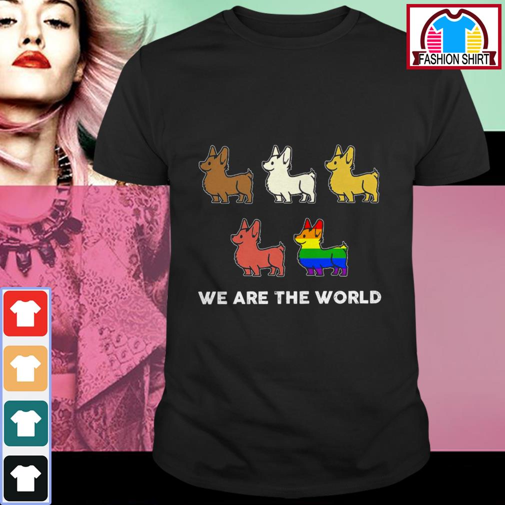 Official Corgi we are the world LGBT shirt by tshirtat store Shirt