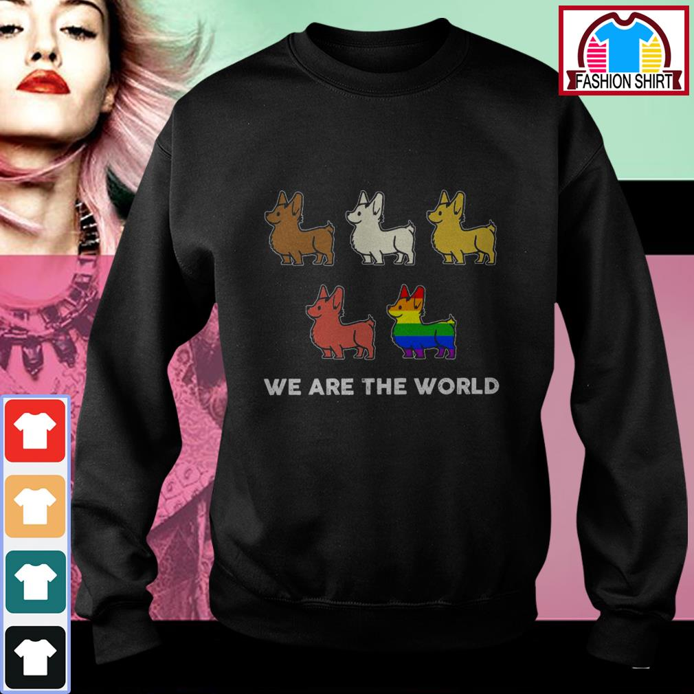 Official Corgi we are the world LGBT shirt by tshirtat store Sweater