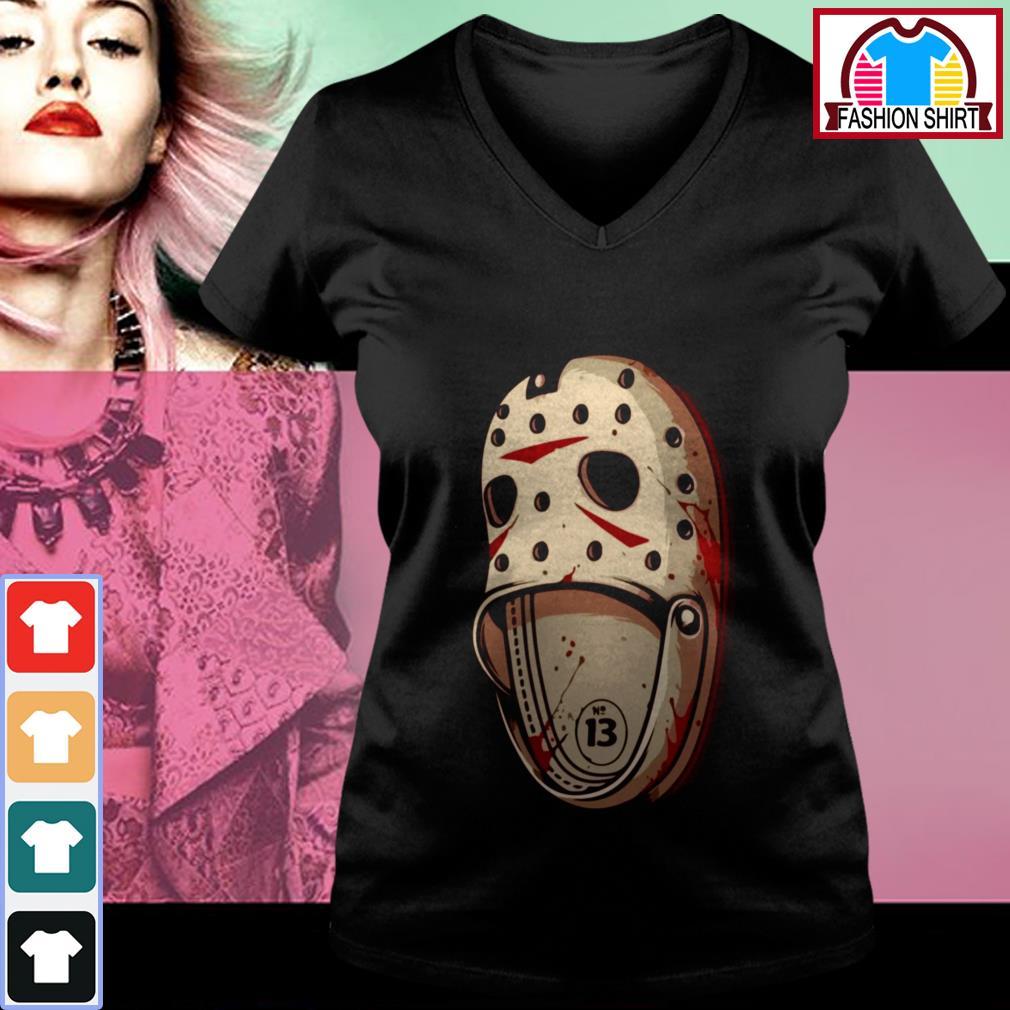Official Jason Voorhees Crocs shirt by tshirtat store V-neck T-shirt
