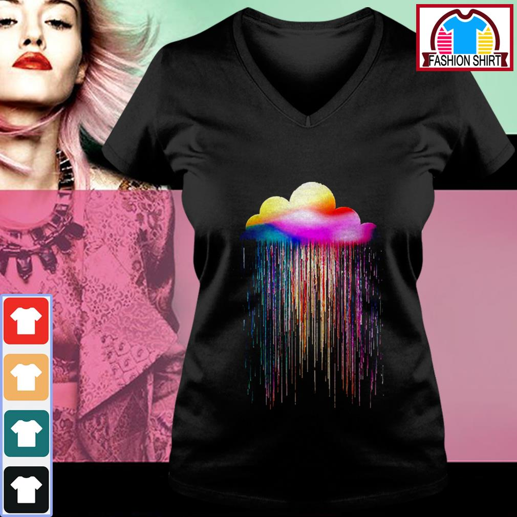 Official Rainbow rain shirt by tshirtat store V-neck T-shirt