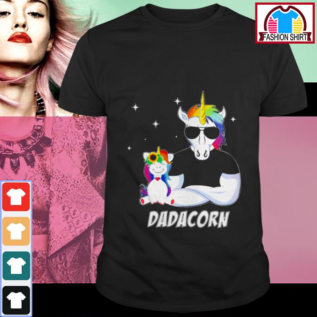 Official Unicorn Dadacorn dad Father's day shirt by tshirtat store Shirt