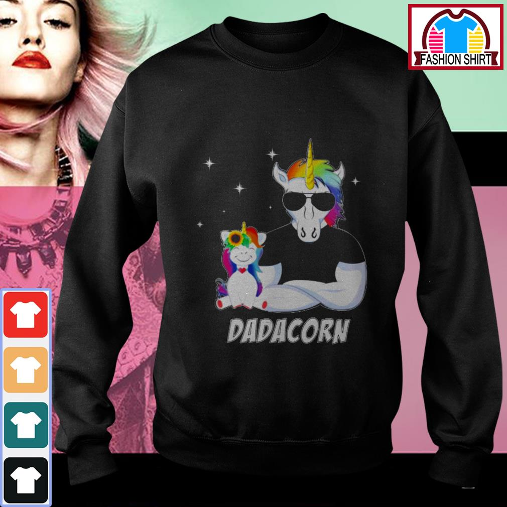 Official Unicorn Dadacorn dad Father's day shirt by tshirtat store Sweater