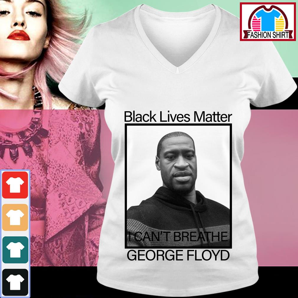 RIP George Floyd Black Lives Matter I can't breathe V-neck T-shirt