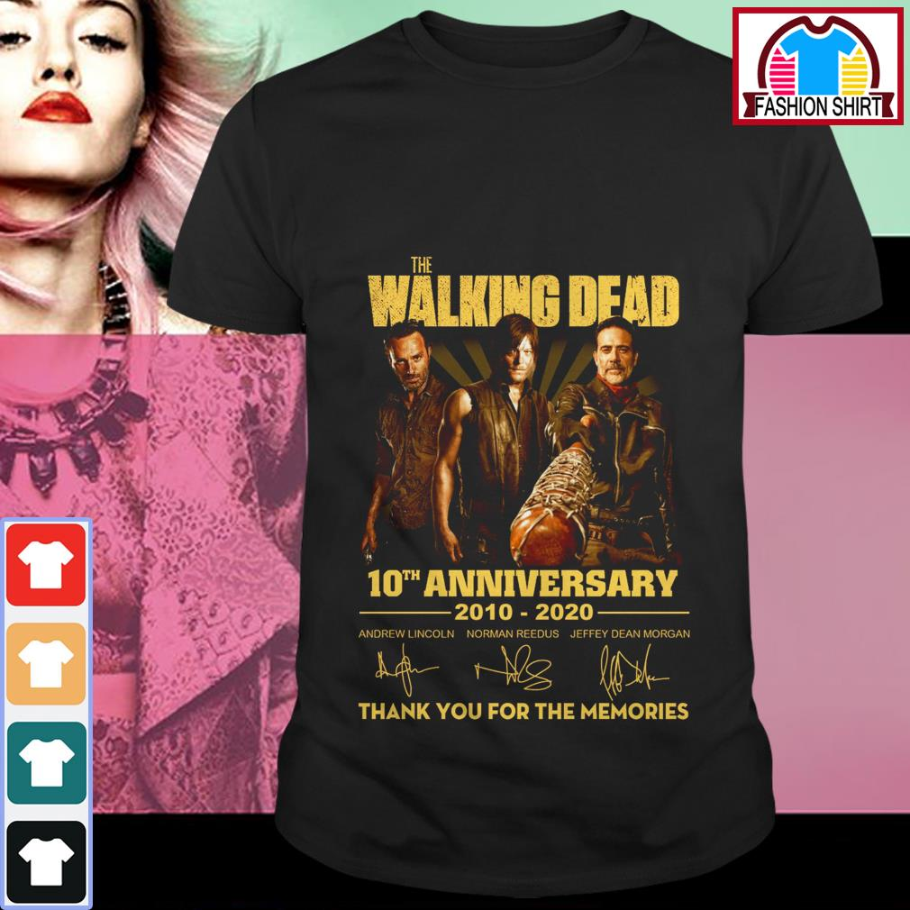 The Walking Dead 10th anniversary 2010-2020 thank you for the memories shirt by tshirtat store Shirt