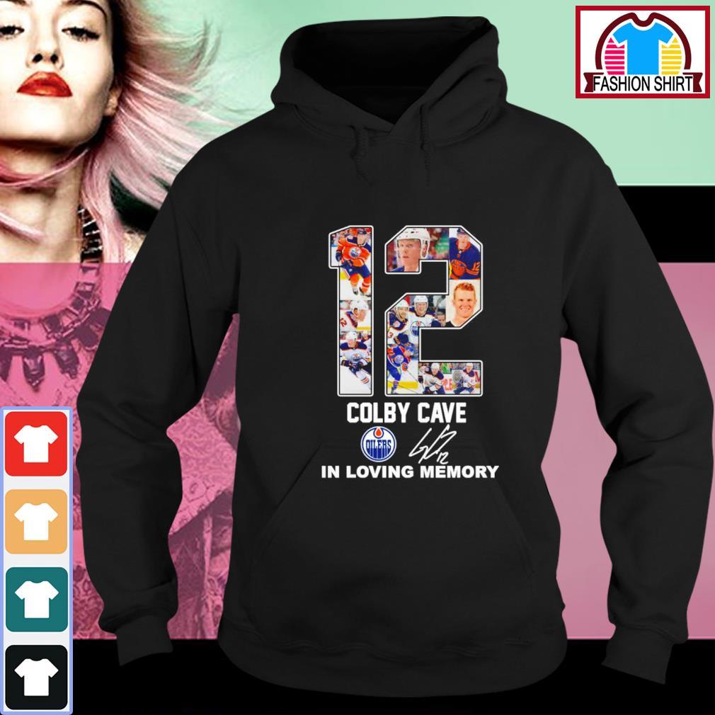 12 Colby Cave Oilers in loving memory s hoodie