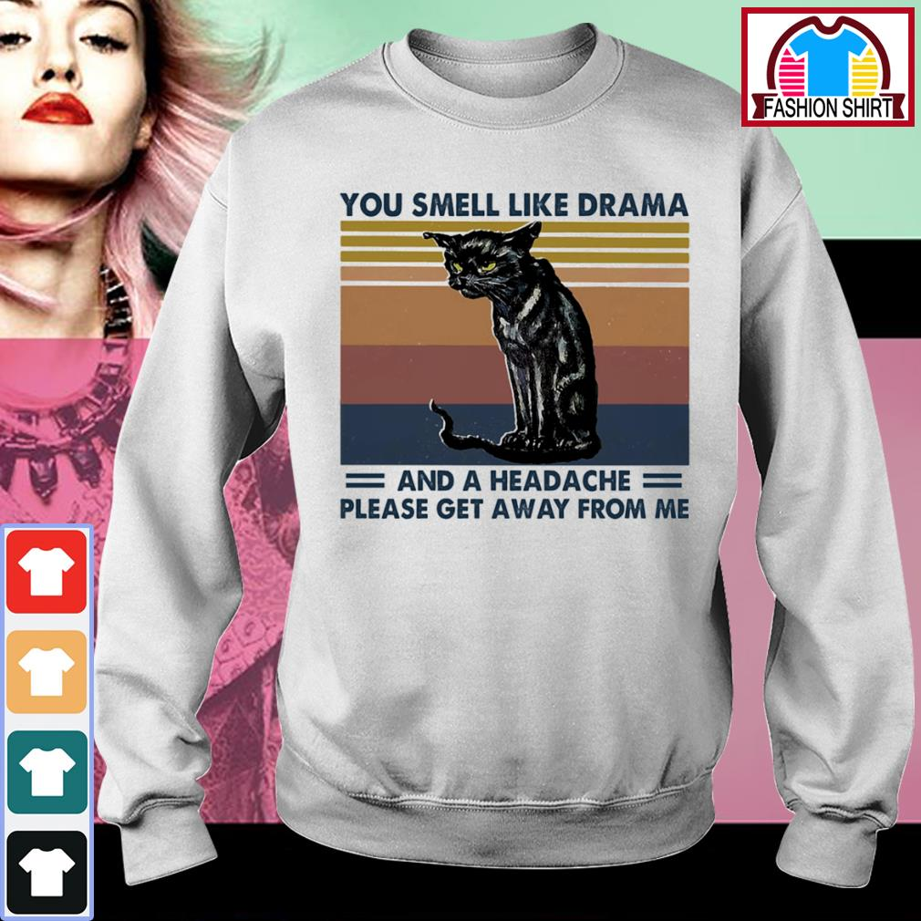 Cat you smell like drama and a headache please get away from me vintage s sweater