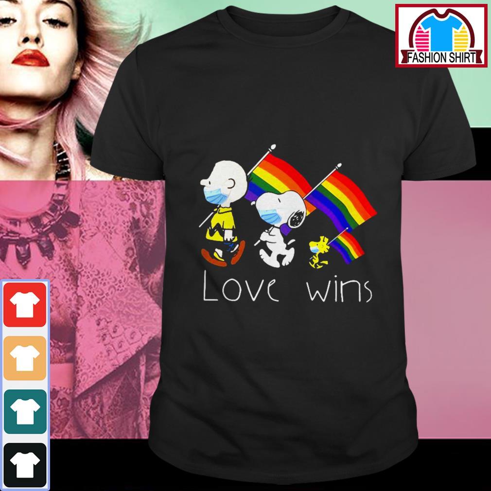 LGBT Snoopy love wins shirt