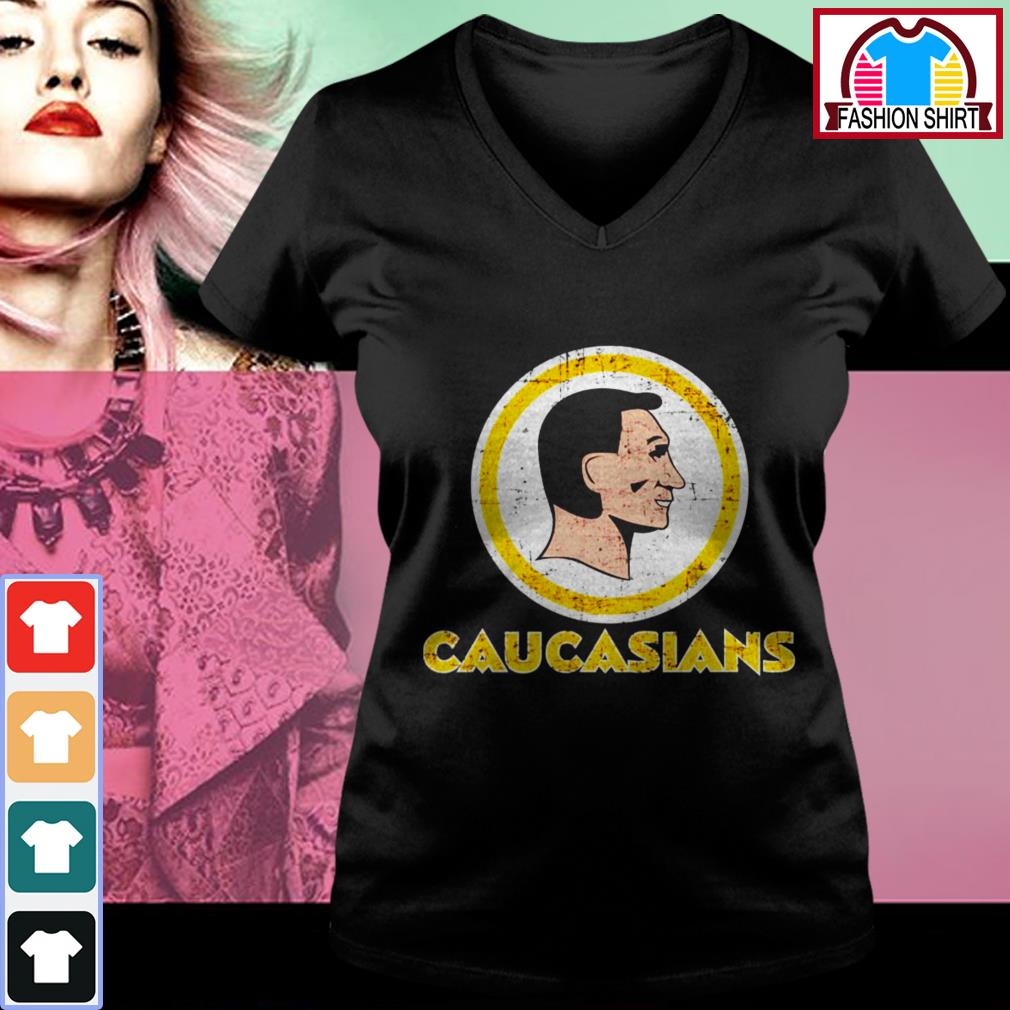Official Caucasians shirt by tshirtat store V-neck T-shirt