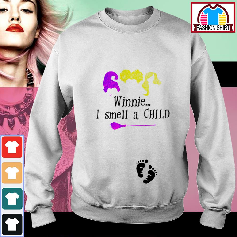 Official Hocus Pocus winnie I smell a child shirt by tshirtat store Sweater