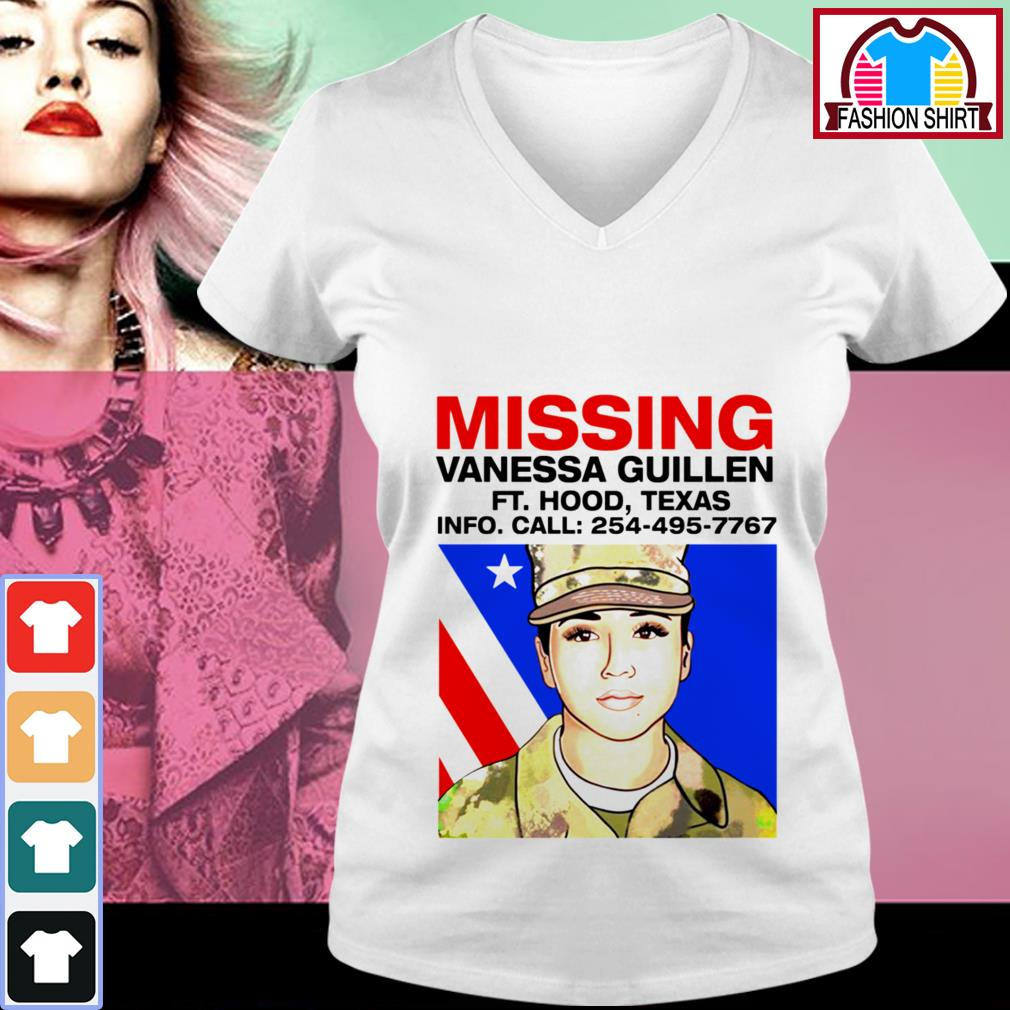 Official Missing Vanessa Guillen Fort Hood Texas shirt by tshirtat store V-neck T-shirt