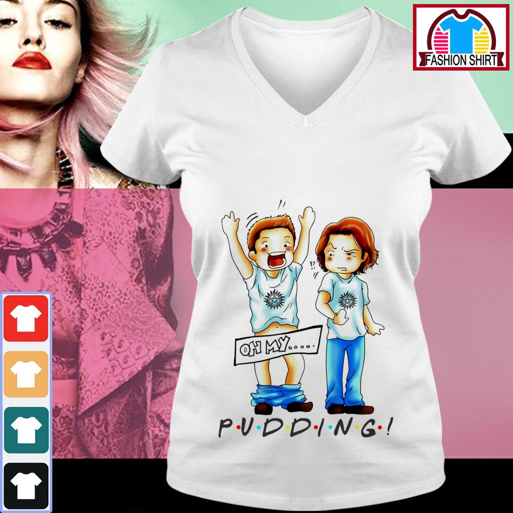 Official Oh my Pudding Supernatural shirt by tshirtat store V-neck T-shirt