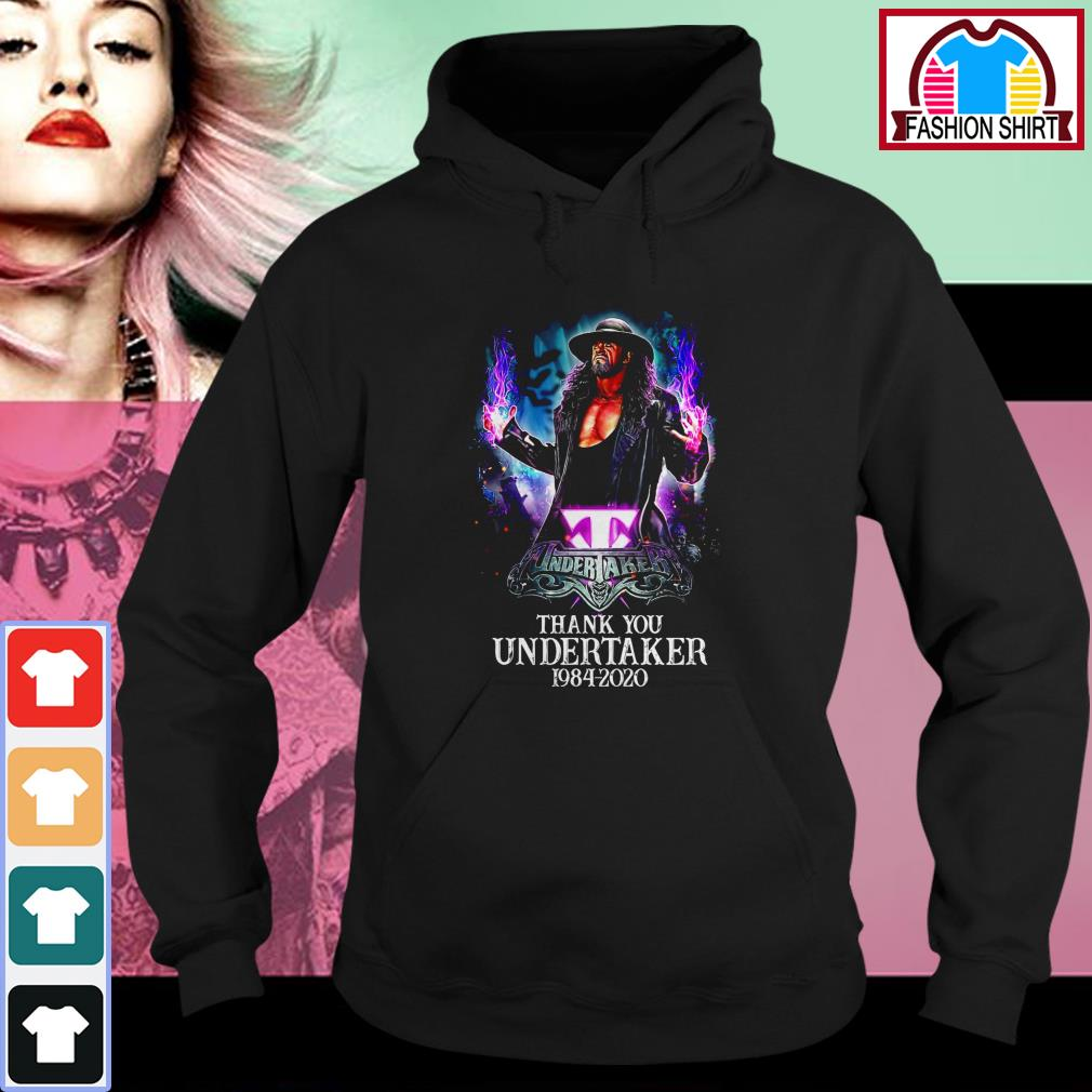 Official Thank you Undertaker 1984-2020 shirt by tshirtat store Hoodie