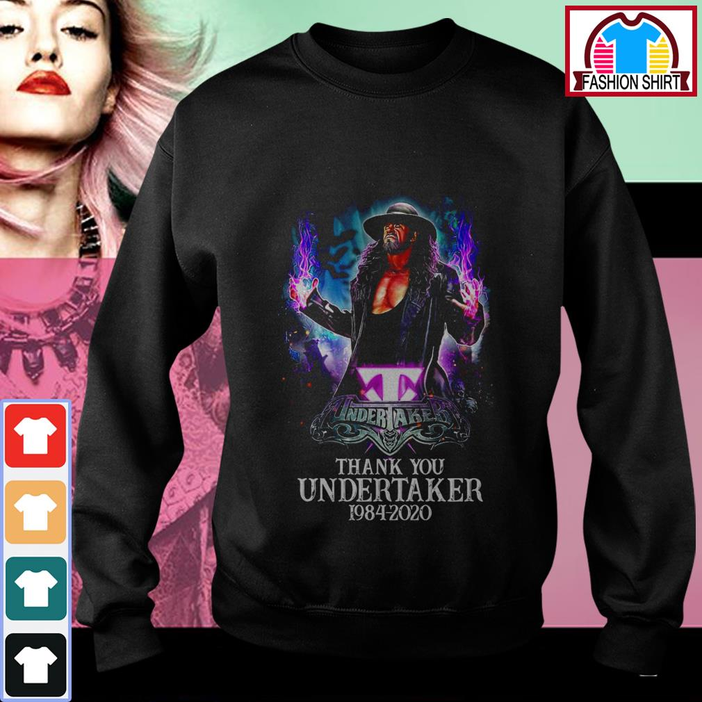 Official Thank you Undertaker 1984-2020 shirt by tshirtat store Sweater
