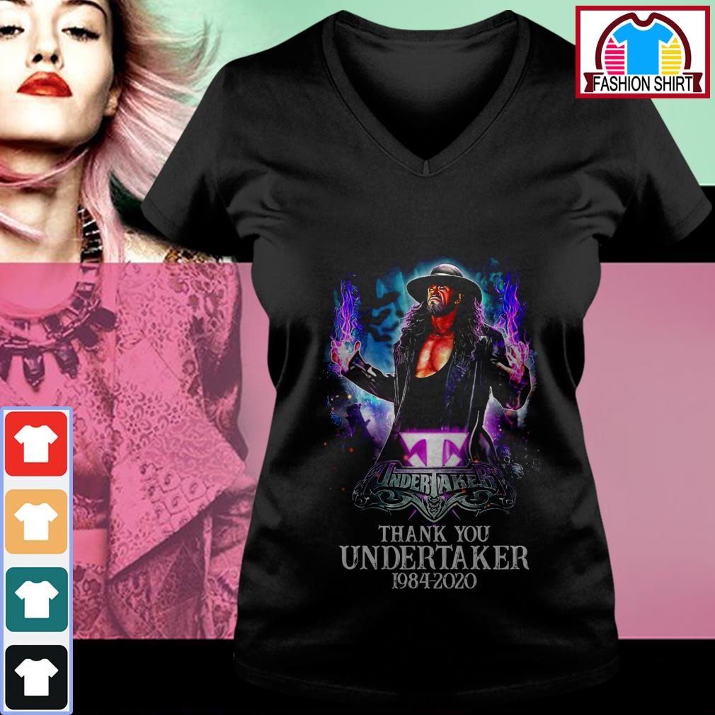 Official Thank you Undertaker 1984-2020 shirt by tshirtat store V-neck T-shirt