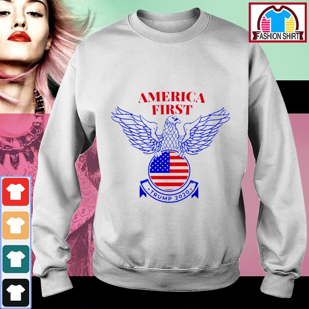 Official Trump Nazi Eagle America First shirt by tshirtat store Sweater