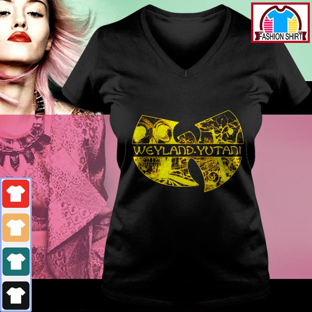 Official Wu Tang Weyland Yutani shirt by tshirtat store V-neck T-shirt