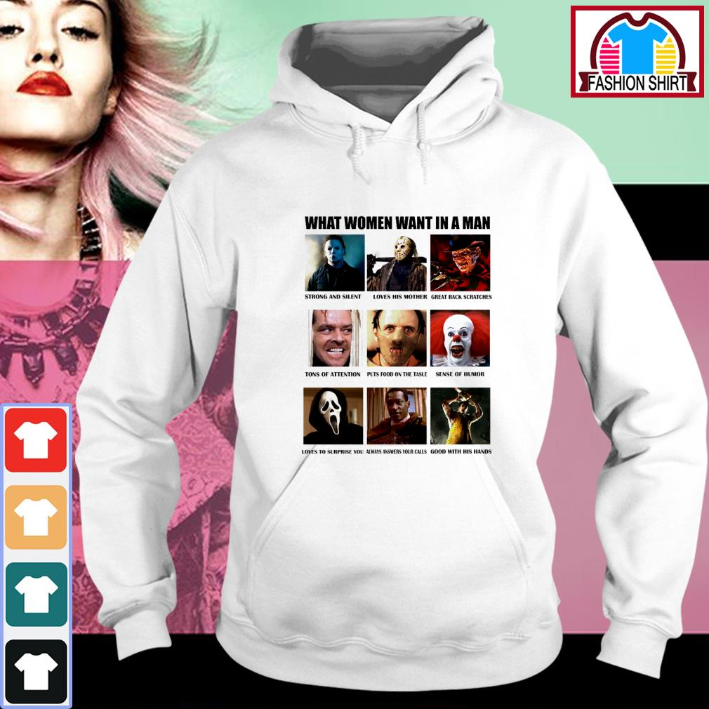 What women want in a man strong and silent like Michael Myers Hoodie