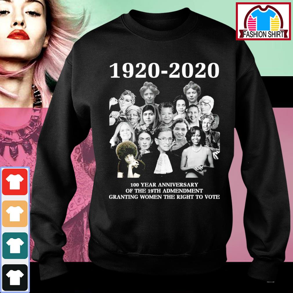 1920-2020 100 year anniversary of the 19th admendment granting women the right to vote s sweater