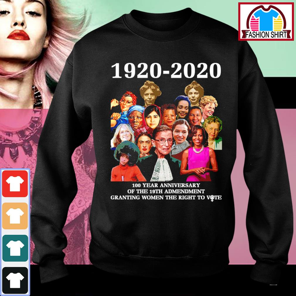 1920 2020 100 year anniversary of the 19th amendment granting women the right to vote s sweater