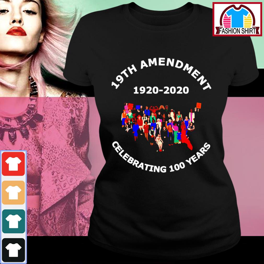 19th Amendment 1920-2020 celebrating 100 years ladies-tee