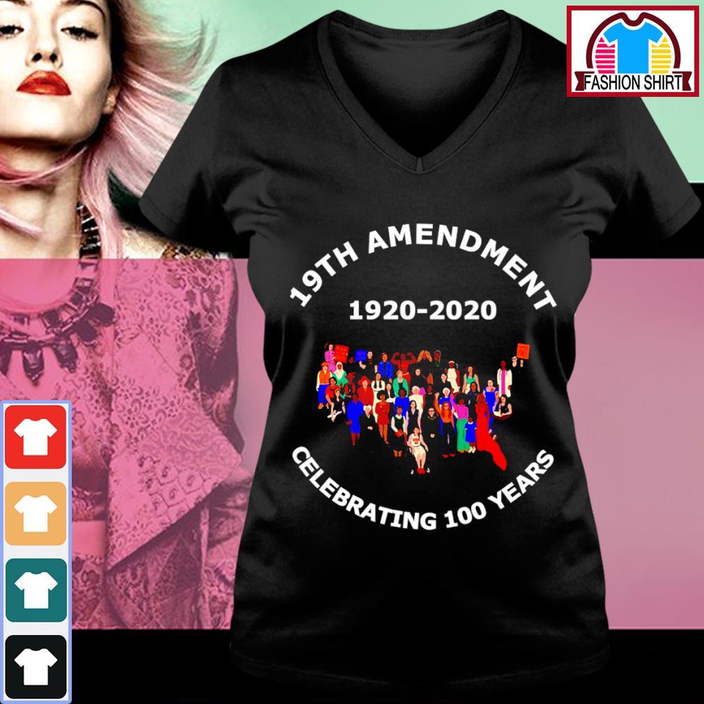 19th Amendment 1920-2020 celebrating 100 years v-neck-t-shirt