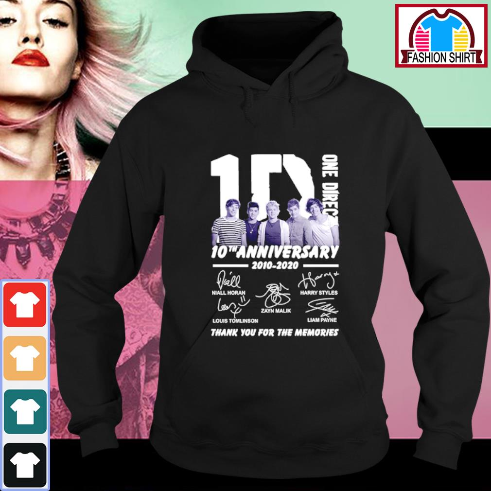1D One Direction 10th anniversary 2010-2020 thank you for the memories s hoodie
