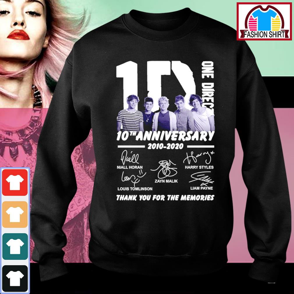 1D One Direction 10th anniversary 2010 2020 thank you for the memories s sweater