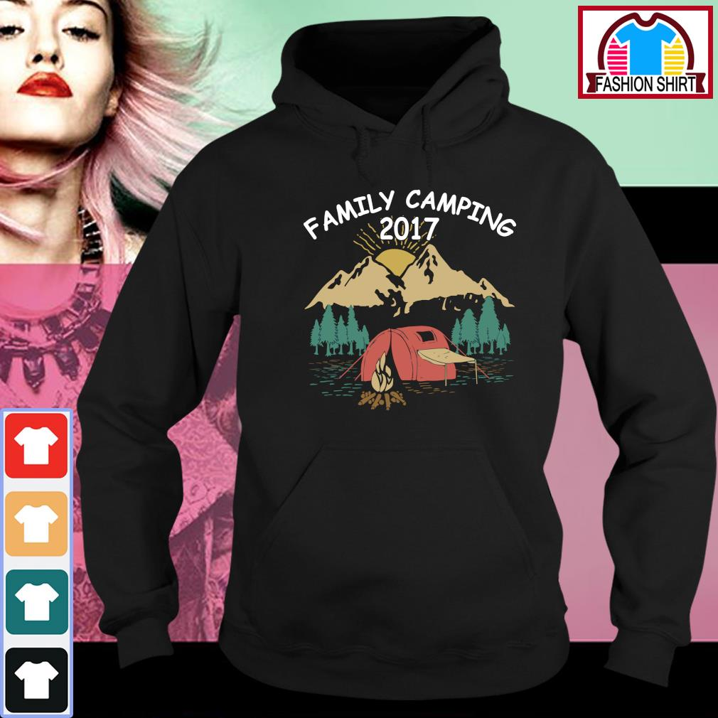Family camping 2017 vintage s hoodie