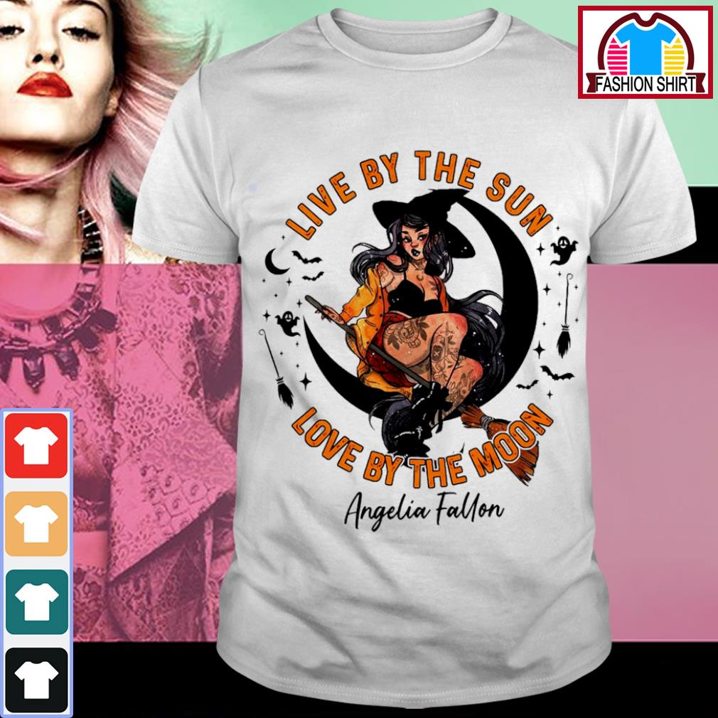 Halloween witch tattoo live by the sun love by the moon shirt