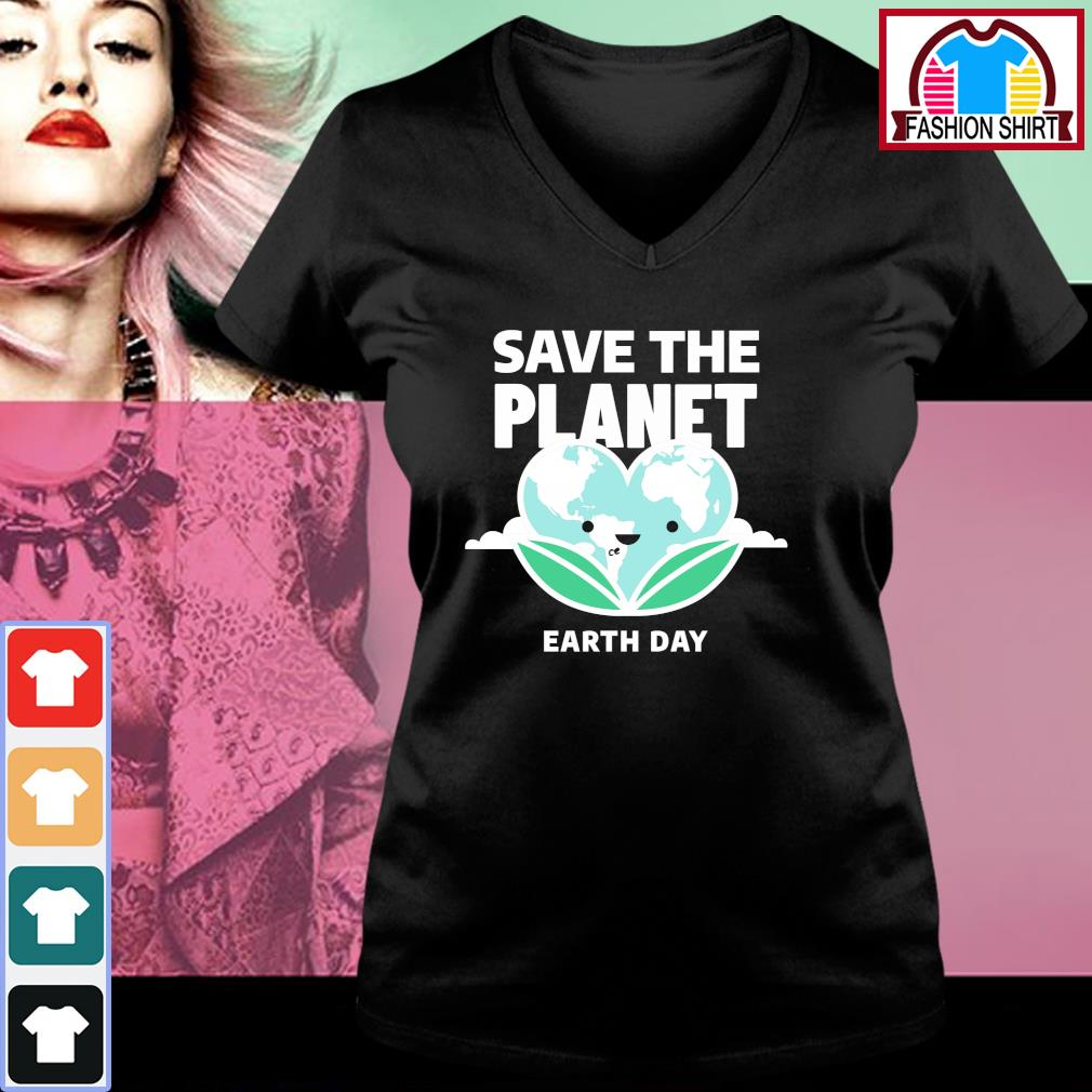 Save the Planet Earth Day 2020 s v-neck-t-shirt