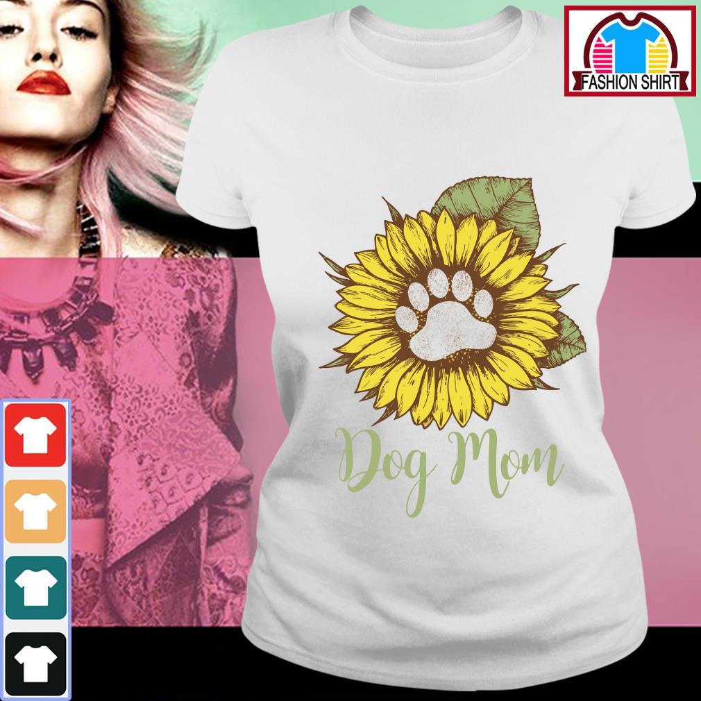 Sunflower dog mom s ladies-tee