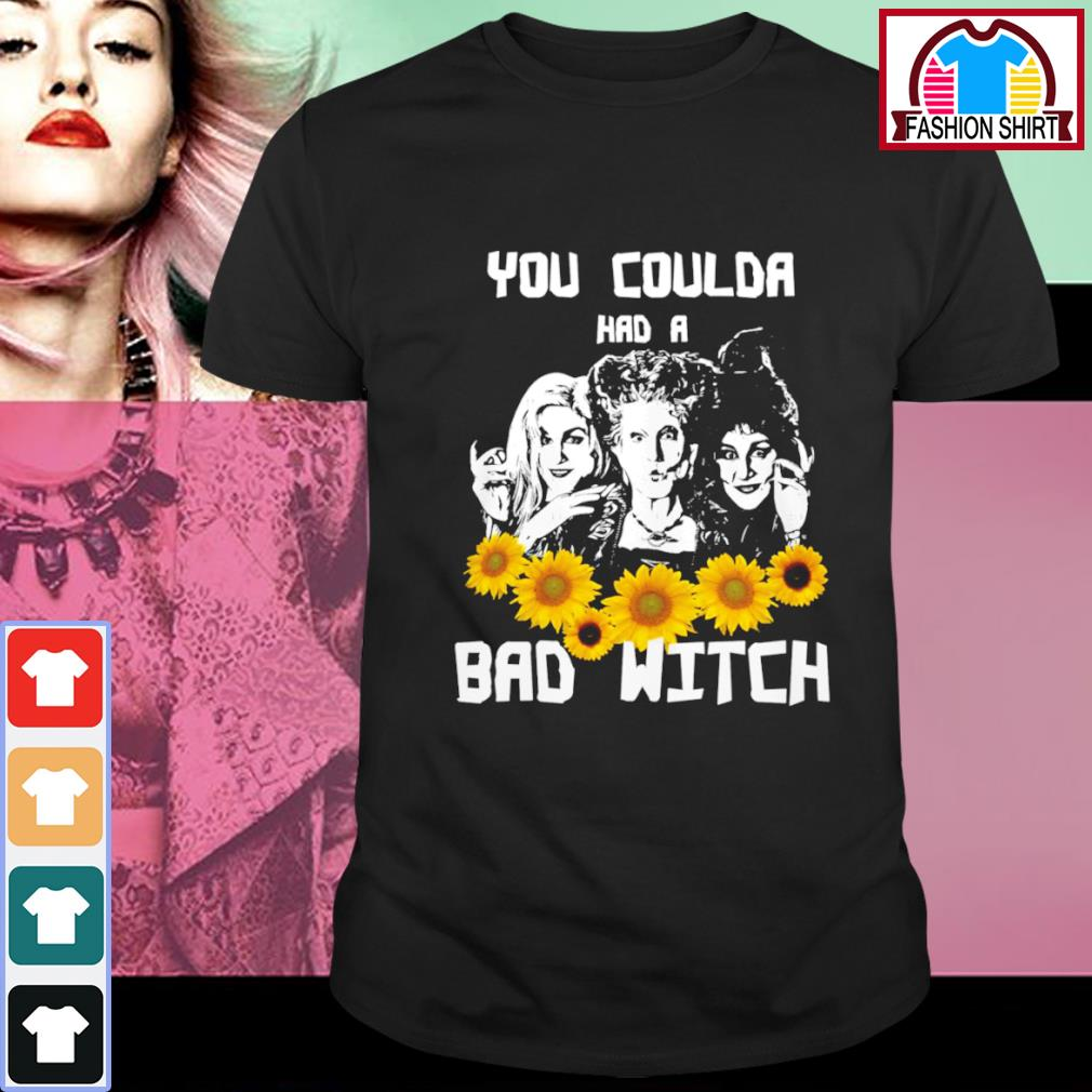 Sunflowers Hocus Pocus you coulda had a bad witch shirt