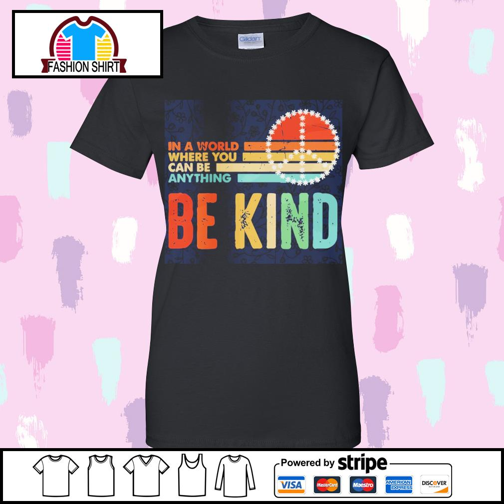In a world where you can be anything be kind vintage s v-neck-t-shirt