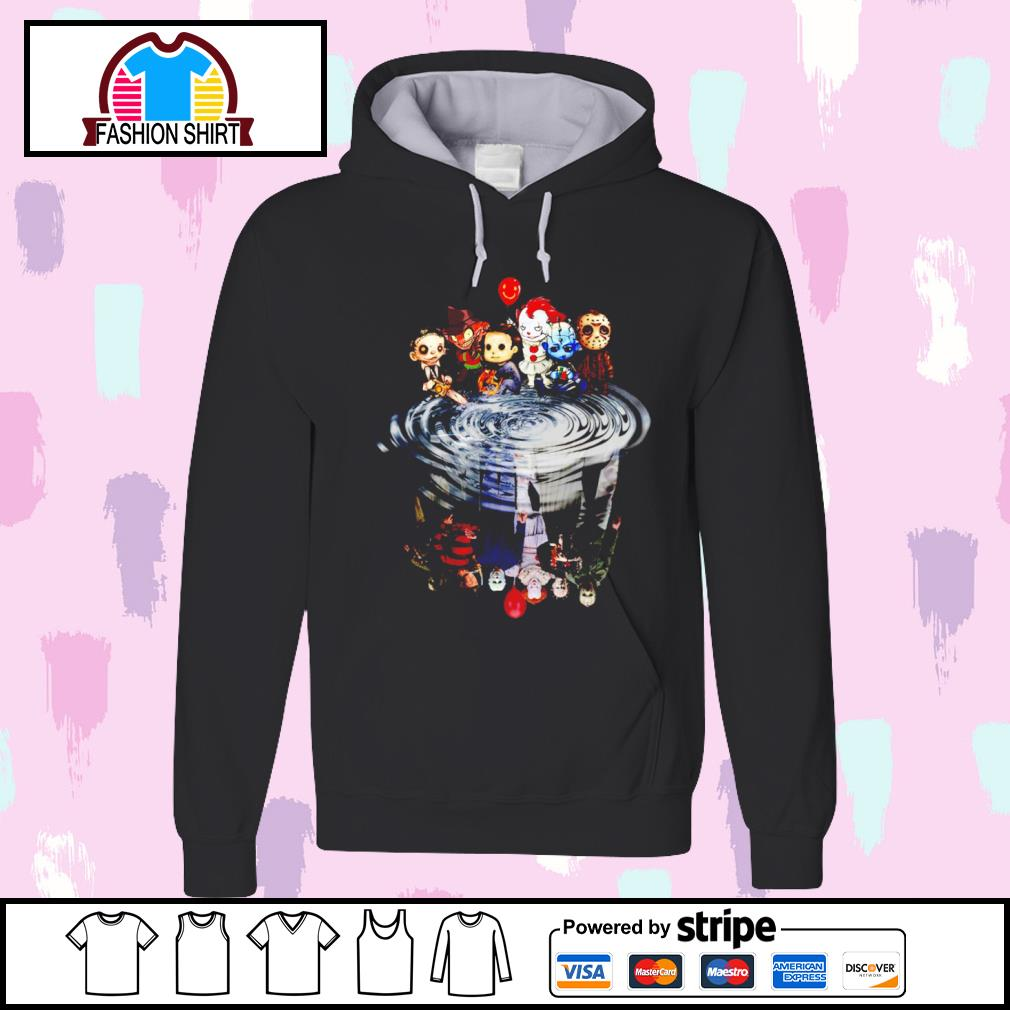 Jason Michael Freddy Leatherface Pennywise chibi water reflection s hoodie