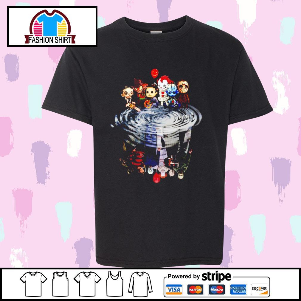Jason Michael Freddy Leatherface Pennywise chibi water reflection shirt