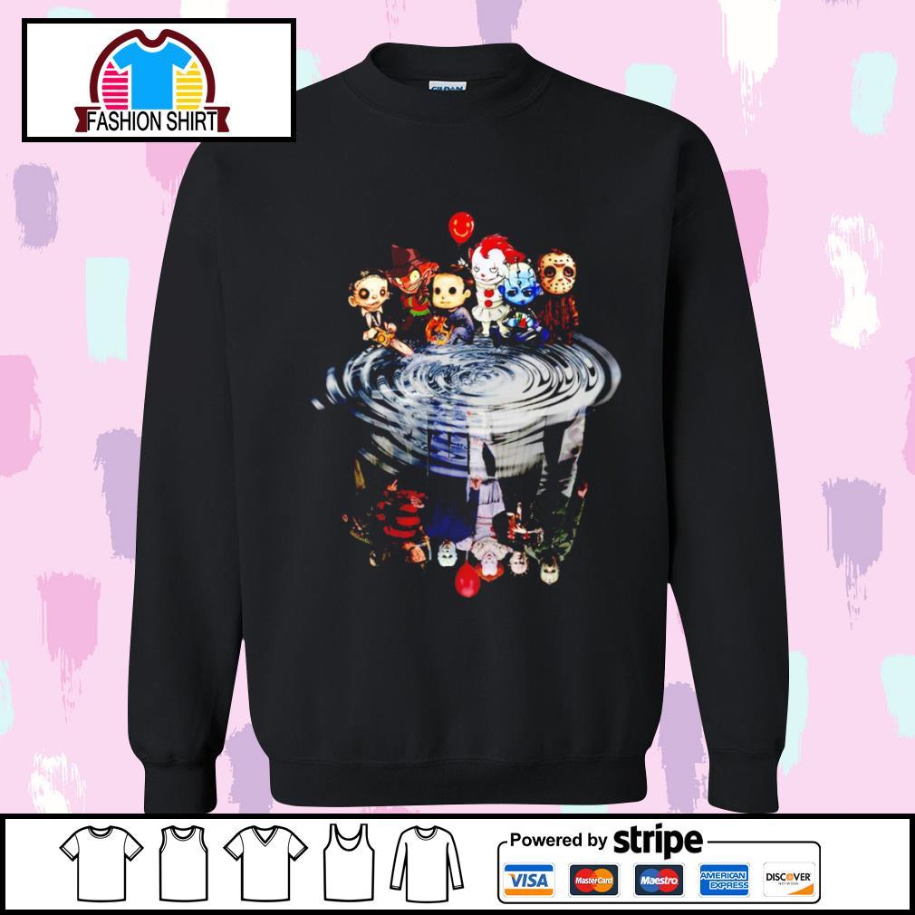 Jason Michael Freddy Leatherface Pennywise chibi water reflection s sweater