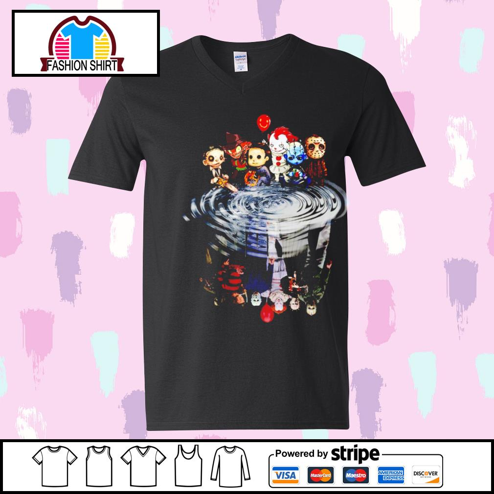 Jason Michael Freddy Leatherface Pennywise chibi water reflection s youth-tee