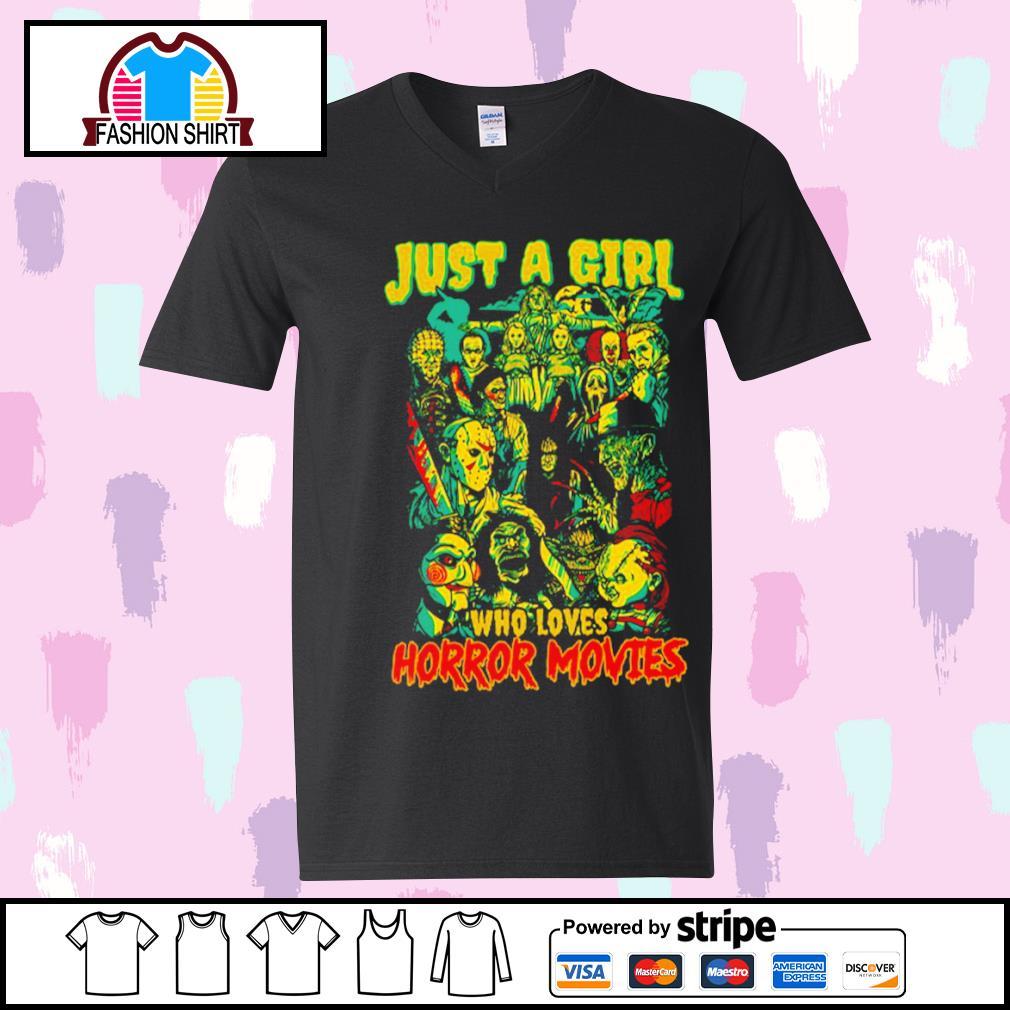 Jason Michael Freddy Pennywise Chucky just a girl who loves horror movies s youth-tee