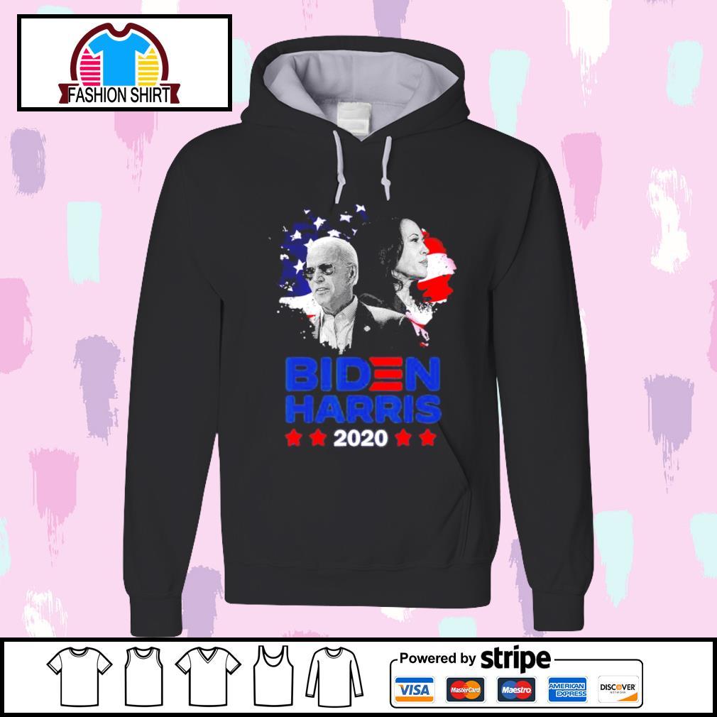 Joe Biden Kamala Harris 2020 American flag s hoodie