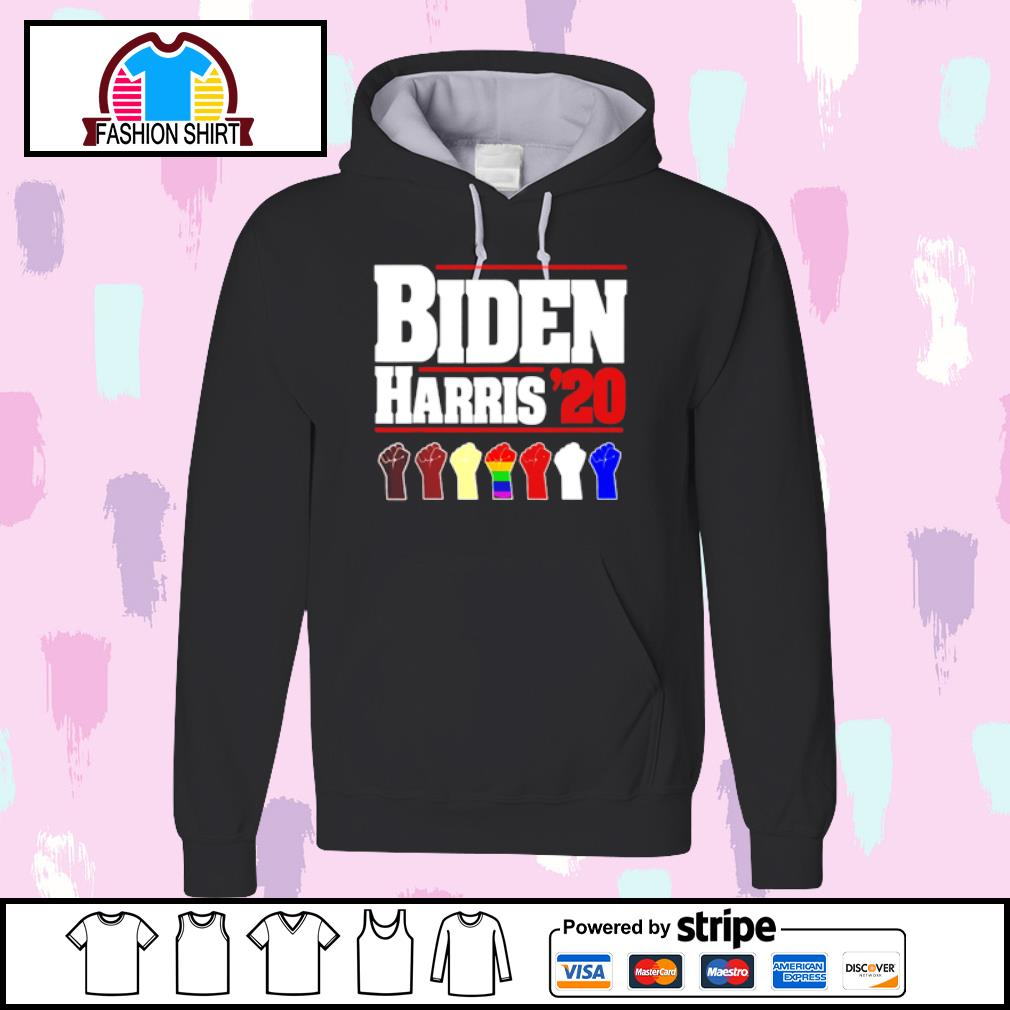 Joe Biden Kamala Harris 2020 Rainbow Gay Pride LGBT s hoodie
