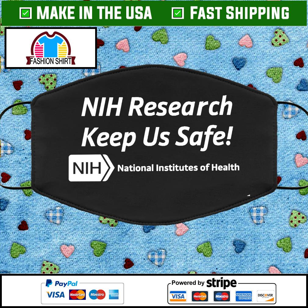 NIH Research Keeps Us Safe Cloth Face Mask Washable