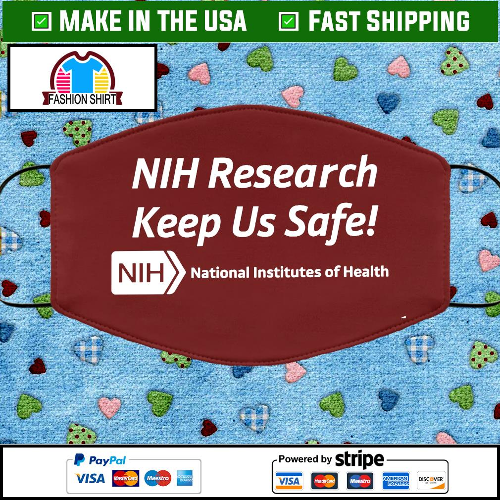 NIH Research Keeps Us Safe Cloth Face Mask Washable brown