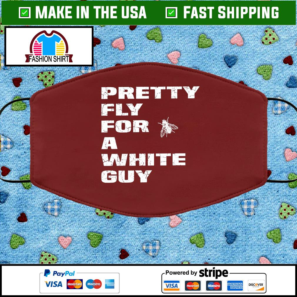 Pretty Fly For A White Guy Vintage Cloth Face Mask Washable brown