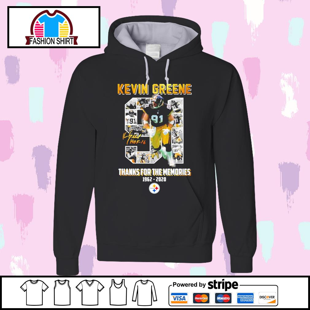 91 Kevin Greene thanks for the memories 1962 2020 Pittsburgh Steelers s hoodie